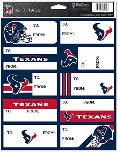WinCraft NFL Gift Tag Sheet
