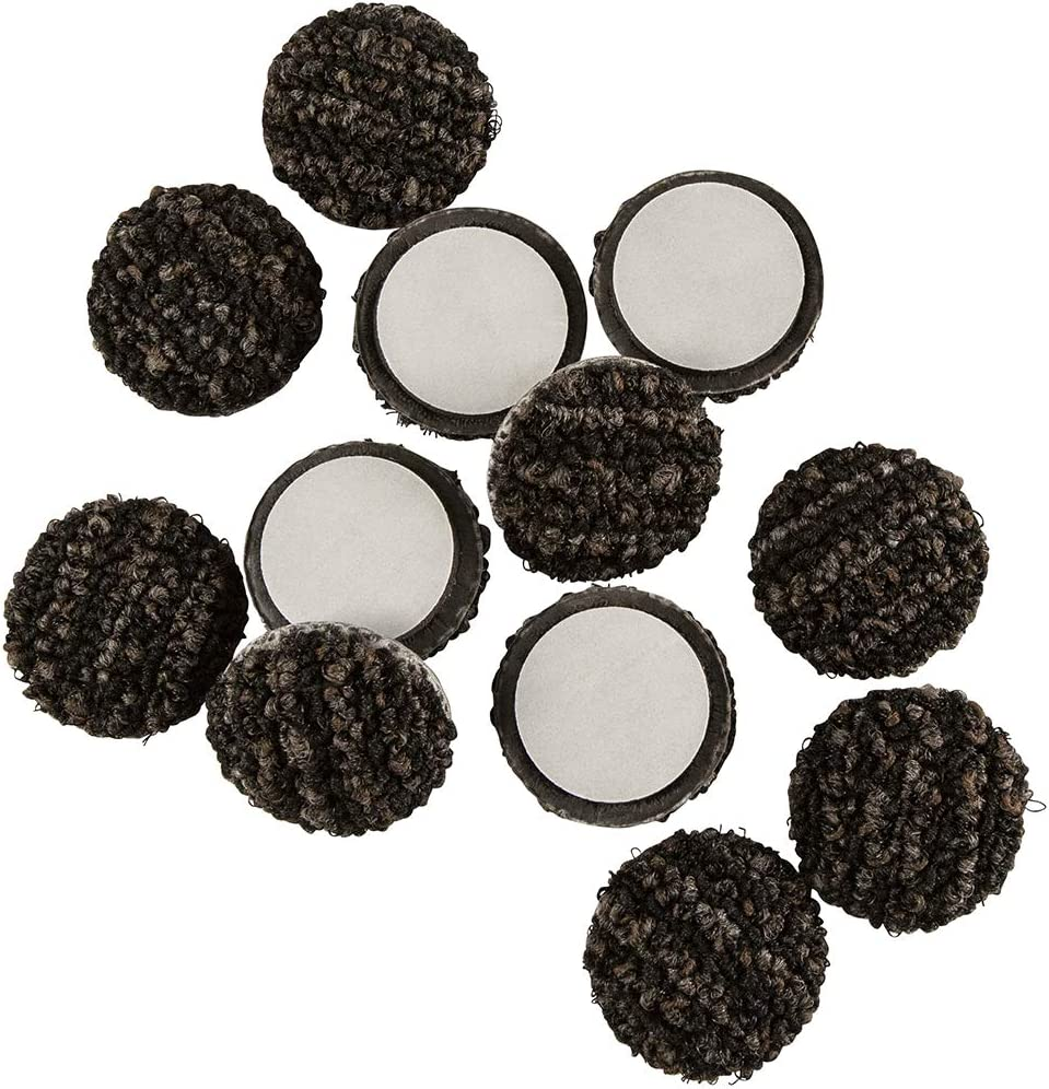 Super Sliders Outdoor Patio Furniture Felt Pads Weather Resistant 1-1/2 Inch Round- Protect Decks and Outdoor Flooring Surfaces, 12 Pack