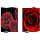 6ft tall red roses floral dressing screen room divider from