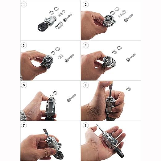 AmazonFr  Kit Reparation Pour Serrure Barillet Porte Avant Voiture