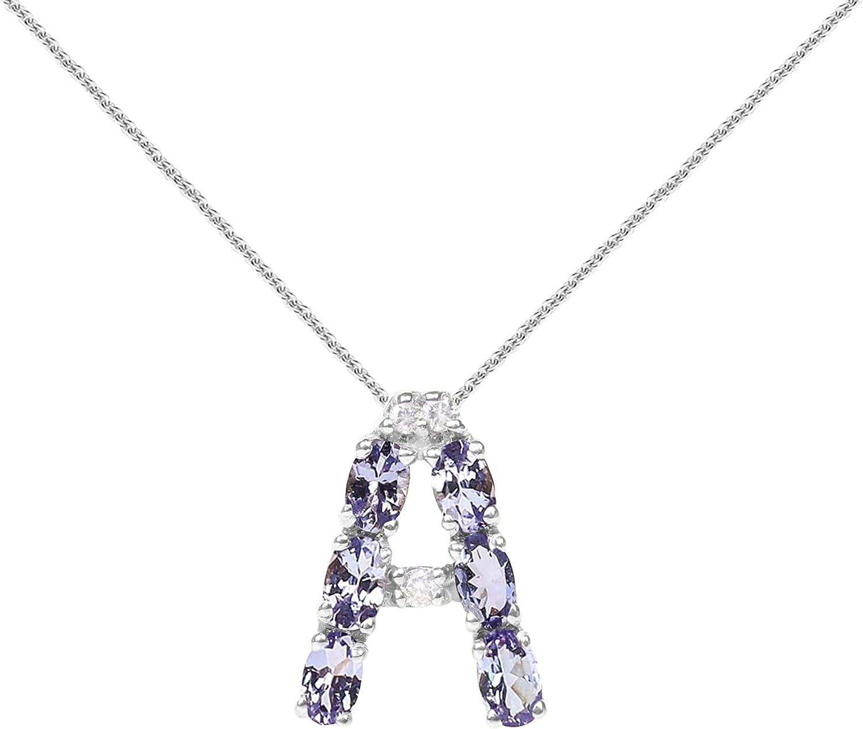 Sterling Silver Diamond Jewelry Pendants /& Charms Solid Tanzanite Diamond Pendant