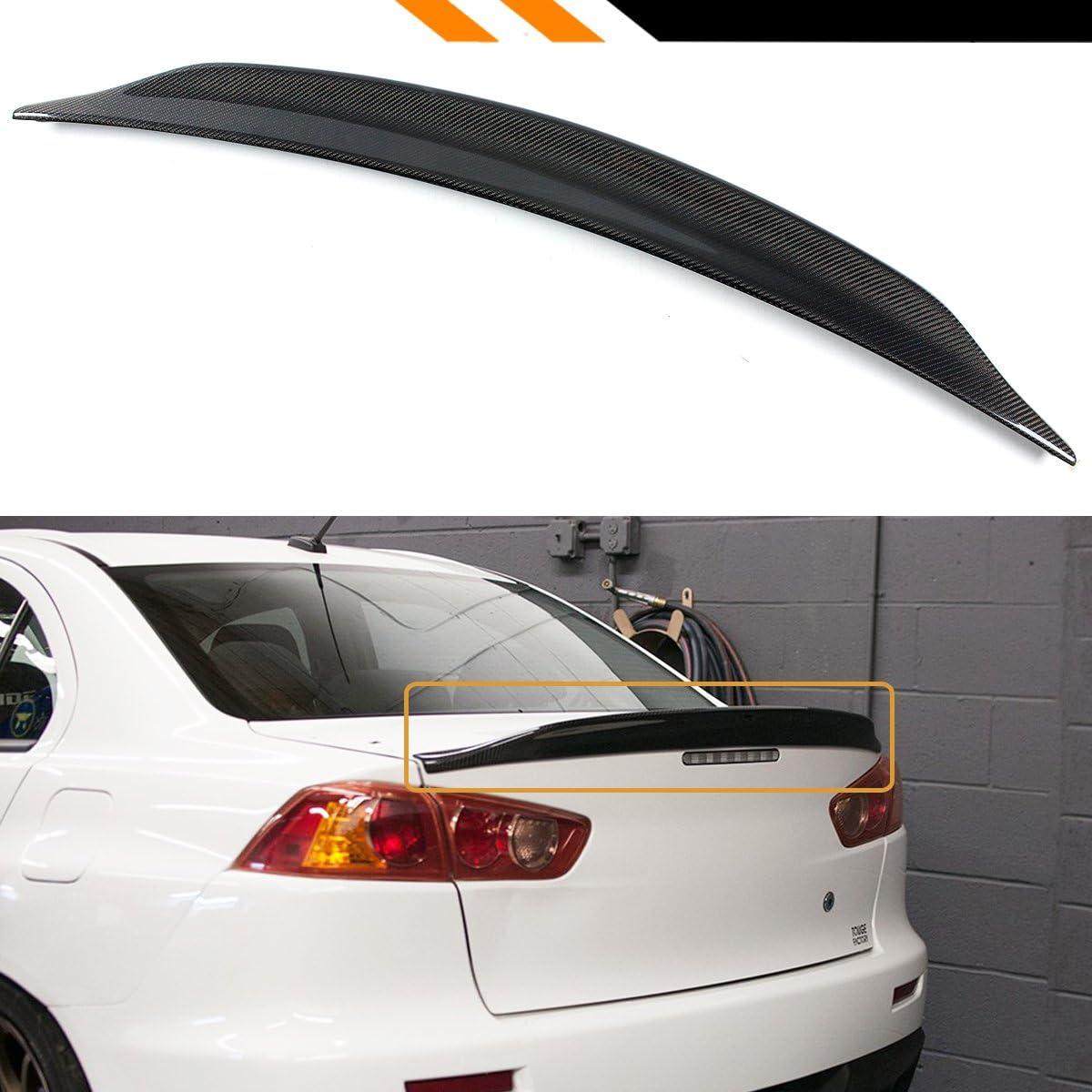 For 08-15 Lancer EVO X 10 Carbon Fiber RS Style Rear Duck Trunk Wing Lip Spoiler