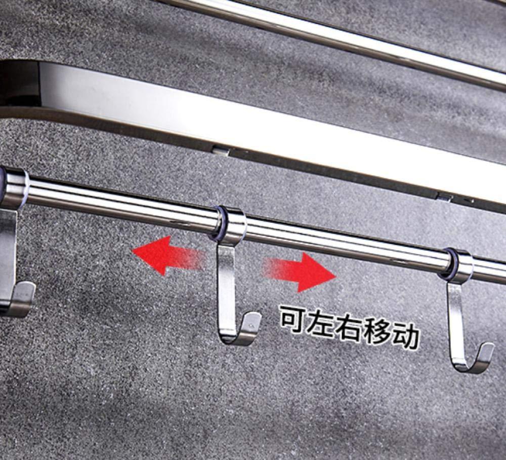 QWQW Estantes para ducha Toallero de ba/ño Perchero libre Colgante de pared Estante de acero inoxidable 304 Estante de almacenamiento de toallas de ba/ño 811 50 cm
