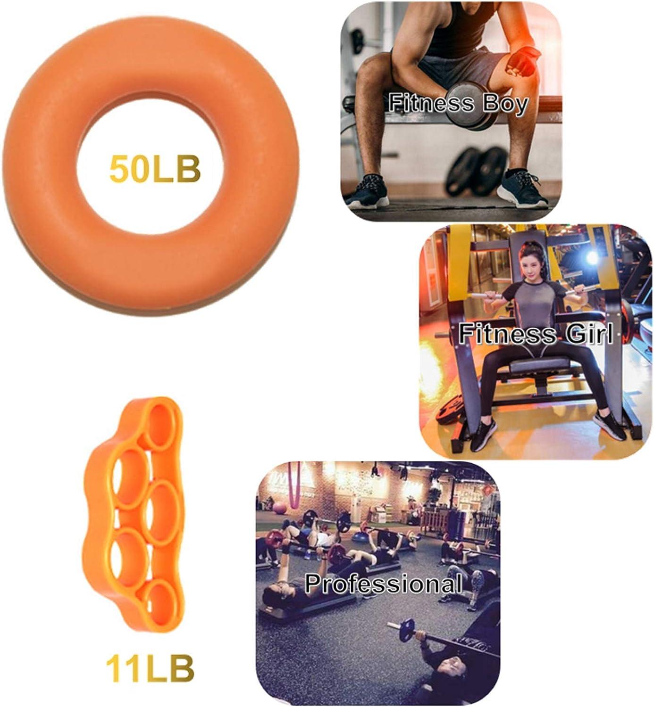 6 pezzi Allenatore per Dita Allenatore per Impugnatura Allenatore per Mani in silicone 3Diversi livelli di Resistenza Barella per Dita Rinforzo Power Trainer Allenatore per Dita Allenatore per Mani