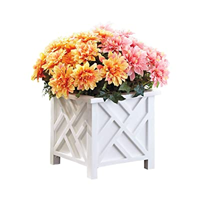 Chippendale Planter, Color White, White : Garden & Outdoor
