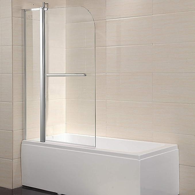 Waagee - Puerta de vidrio transparente enmarcada para ducha 0,63 ...