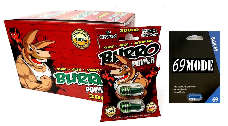 Burro Power Double 30000 Super Male Enhancer 40 Pills in The Box 69 Mode 1 Pill