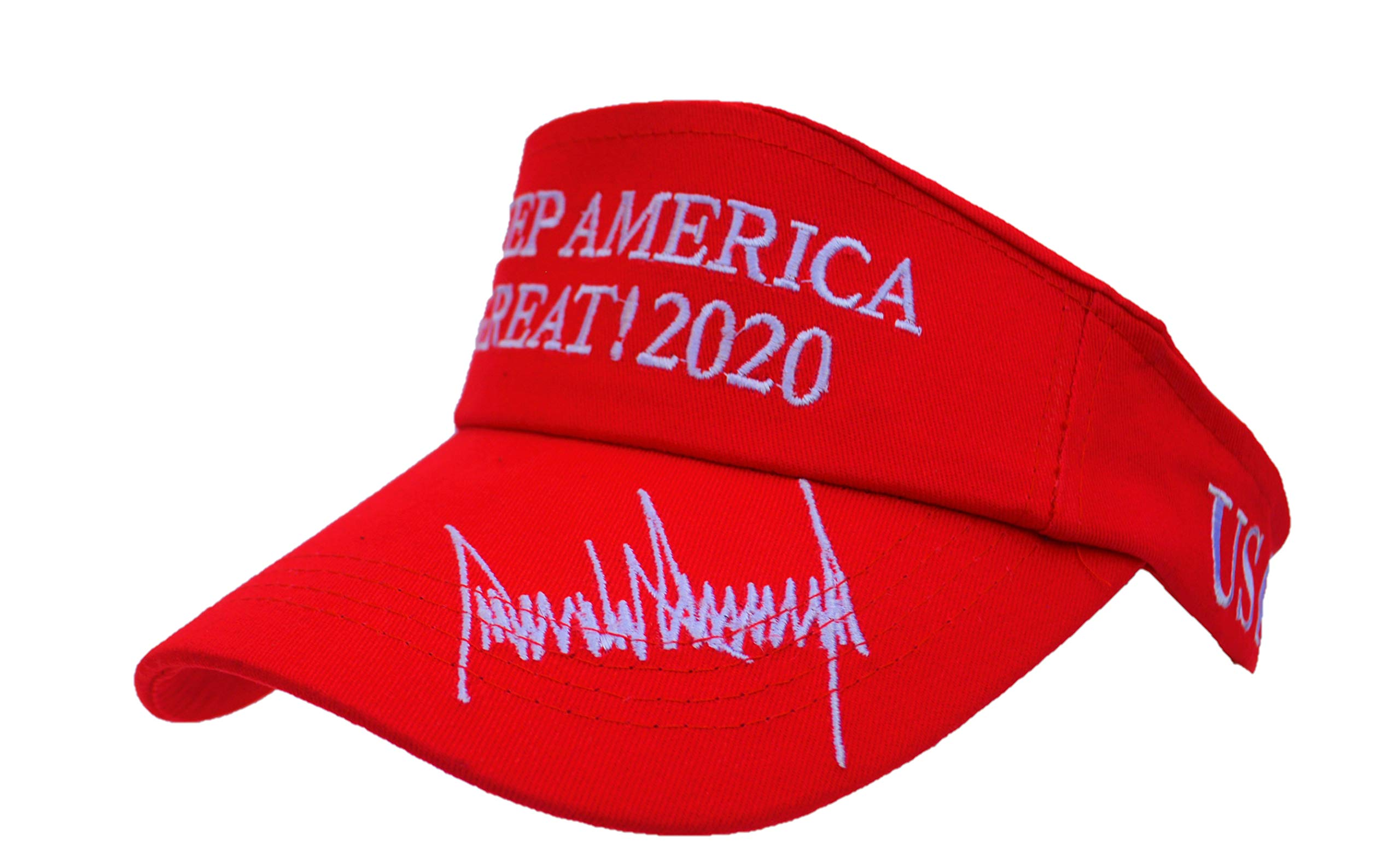 MAGA Keep America Great Donald Trump 2020 Red Premium Visor New Re-Election Slogan by CJs Trading