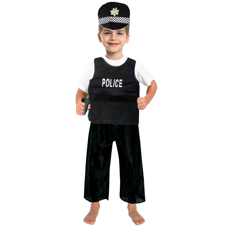 Amazon.com: Disfraz fedio de oficial de policía para niños ...