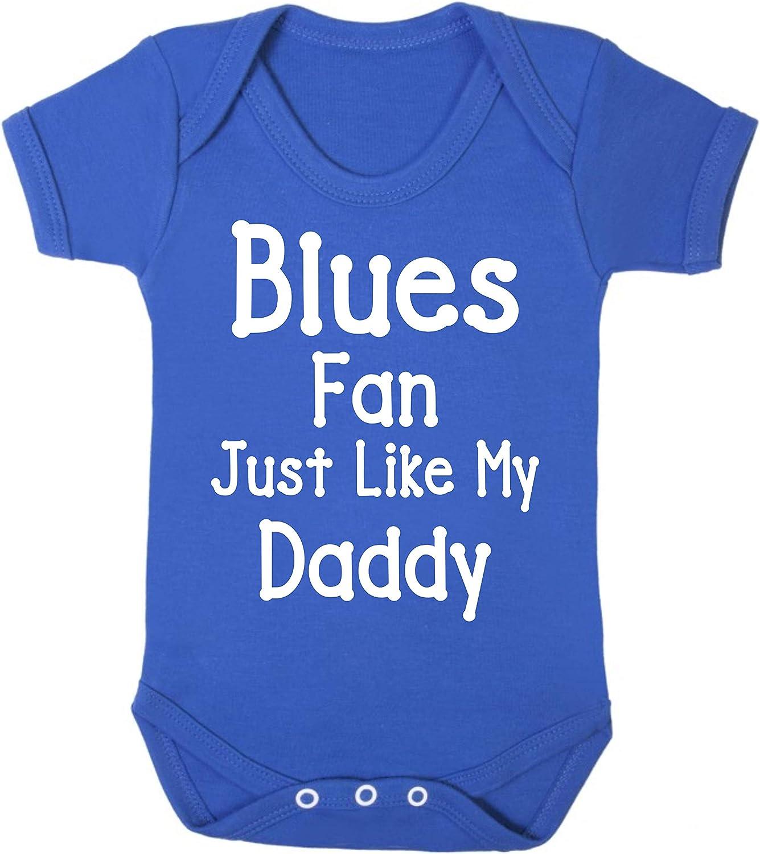 Blues Birmingham Chelsea Everton Ipswich Southend Just Like Daddy Football Fan Baby Grow Vest Boy Girl Gift Romper Newborn Shower