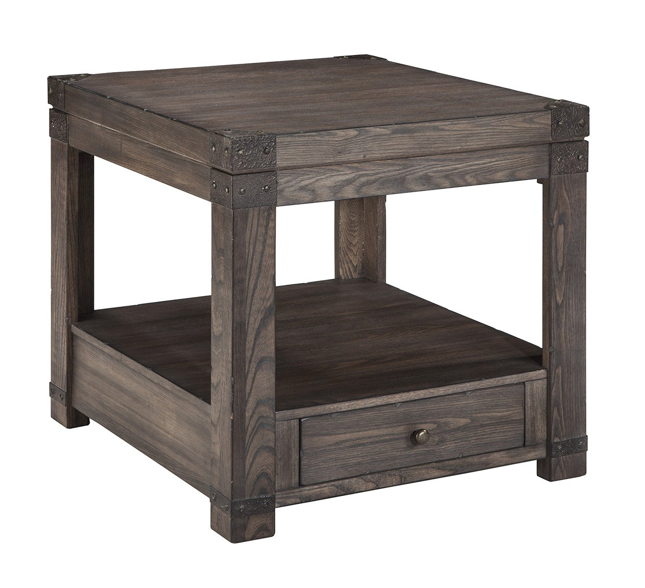 Amazon.com: Signature Design By Ashley T846 3 Rectangular End Table, Washed  Gray Brown Finish: Kitchen U0026 Dining