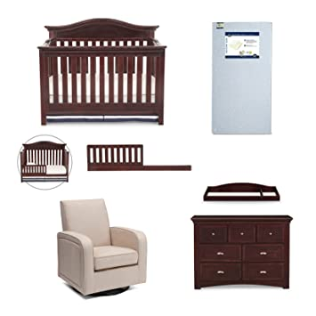 simmons nursery furniture. simmons kids augusta 6-piece molasses brown nursery furniture set: convertible crib | daybed r