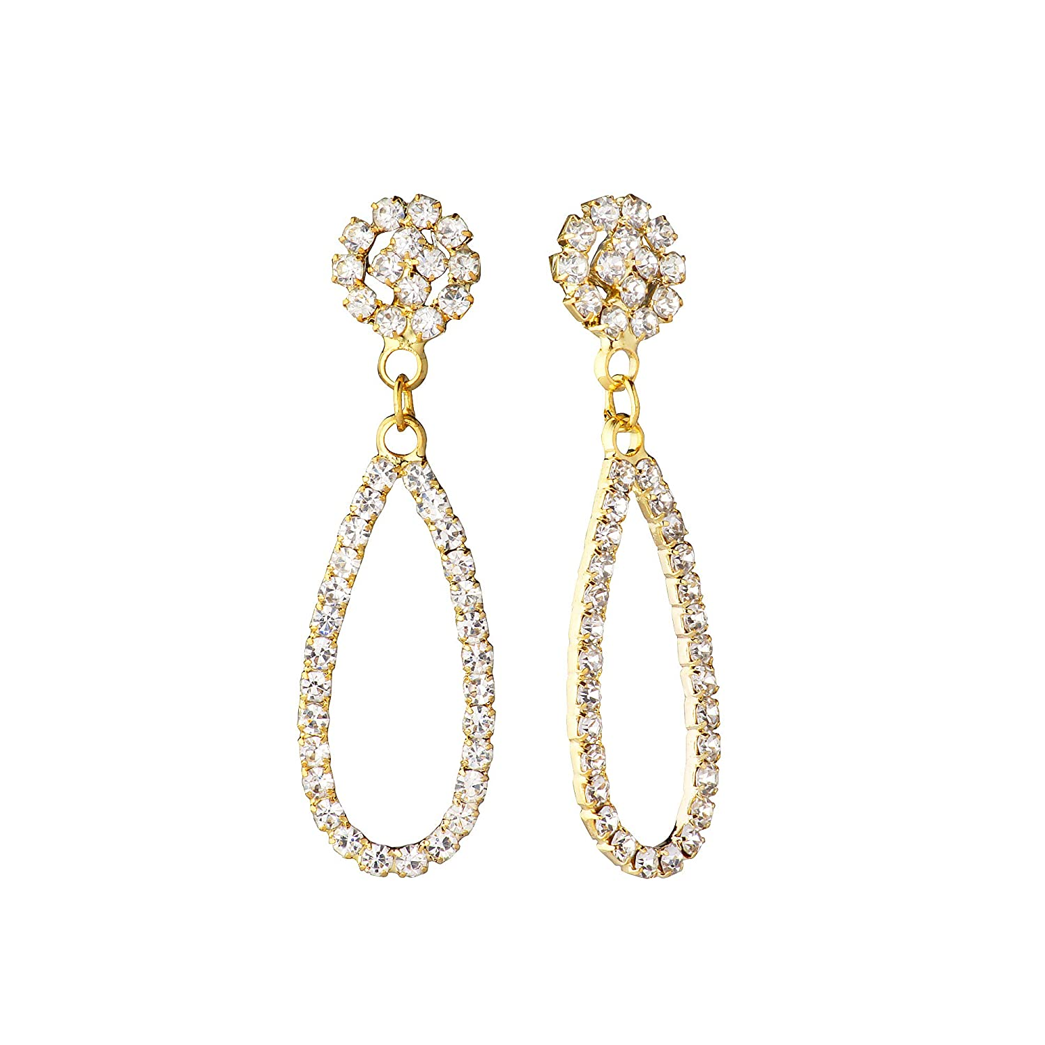 88b500c51 Buy Shining Jewel Elegant Gold Plated Crystal CZ American Diamond Dangle  Drop Designer Earrings for Women, Girls (SJ_1123) Online at Low Prices in  India ...