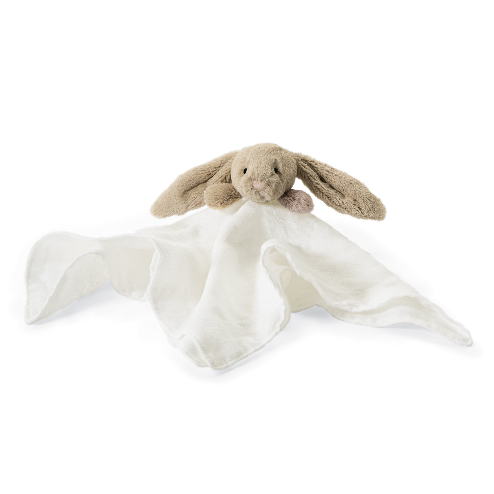 Jellycat Bashful Beige Bunny Muslin Soother Baby Security Blanket, 15 inches x 15 inches