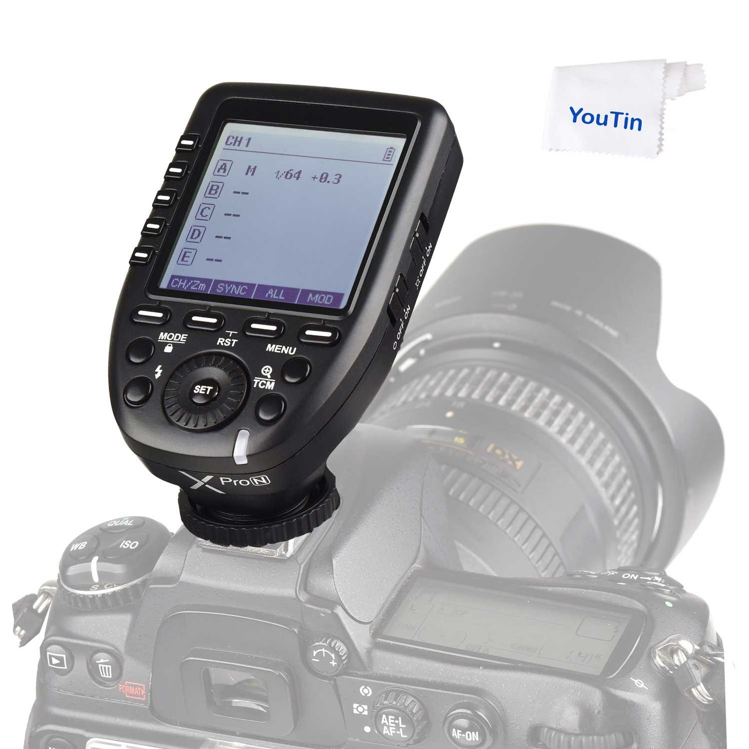 Godox Xpro-N TTL 2.4G 1/8000s HSS Wireless Flash Trigger i-TTL Transmittter for Nikon Cameras by Godox