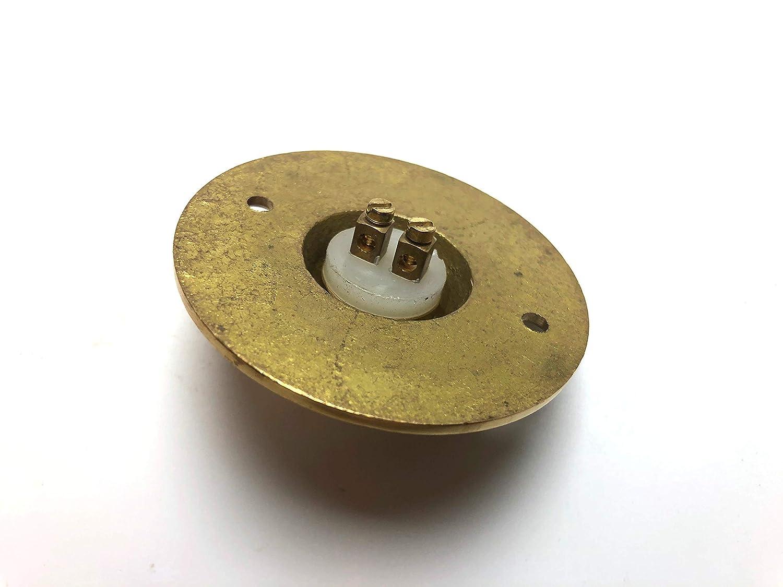 Timbre de lat/ón macizo para puerta 60 mm de di/ámetro