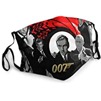 Nasuza James Bond De Retour Polaina de cuello multifuncional a prueba de polvo, pasamontañas, bandanas, calentador de…