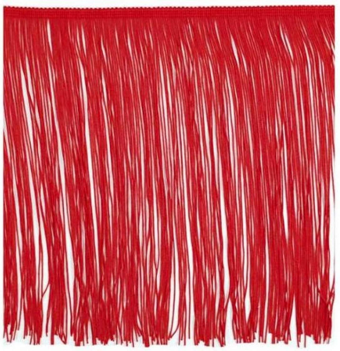 Expo International 5 Yards of 12 Chainette Fringe Trim Red
