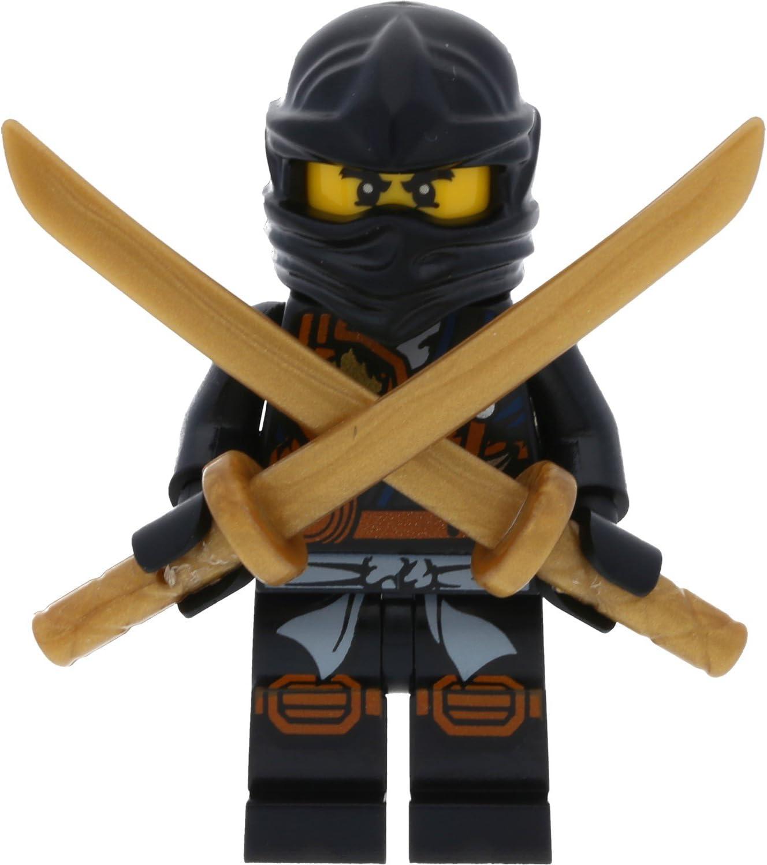 LEGO Ninjago Minifigur Cole Knee Pads aus Set 70747 incl. 2 Schwertern