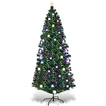 Image Unavailable. Image not available for. Color: Goplus 7.5FT Fiber Optic  Christmas Tree ... - Amazon.com: Goplus 7.5FT Fiber Optic Christmas Tree Pre-Lit