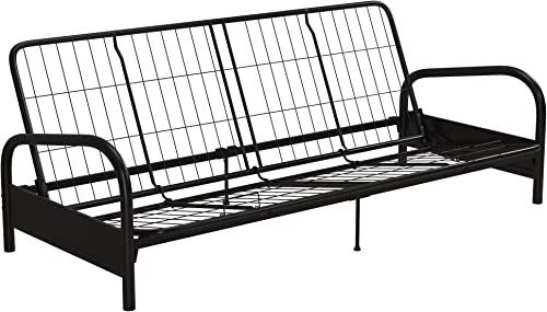 DHP Vermont Metal Futon Frame, Classic Design, Full Sized – Black