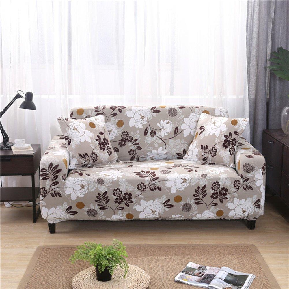 Elastic Sofa Cover,Jacquard Sofa Towel,Cotton Sofa Covers,Soft Fabric for Living Room Sofa Slipcover 1 2 3 4 Seater 1-Piece-G 75-91in