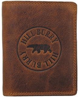 fd6020aac219e Herren Leder Geldbörse geräumiges Portemonnaie Vintage Geldbeutel Portmonee  mit Münzfach aus Echt-