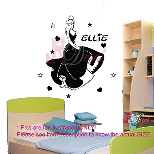 Your Name Personalized disney Princess Cinderella Vinyl Wall Decal