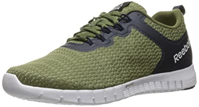 reebok mens running shoes. reebok men\u0027s zquick lite running shoe, canopy green/poplar green/collegiate navy/ mens shoes e