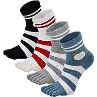 Mogao Caves Calcetines de Dedos Mujer Calcetines Cinco Dedos de Deporte,Algodón separados pies calcetines,suave y…