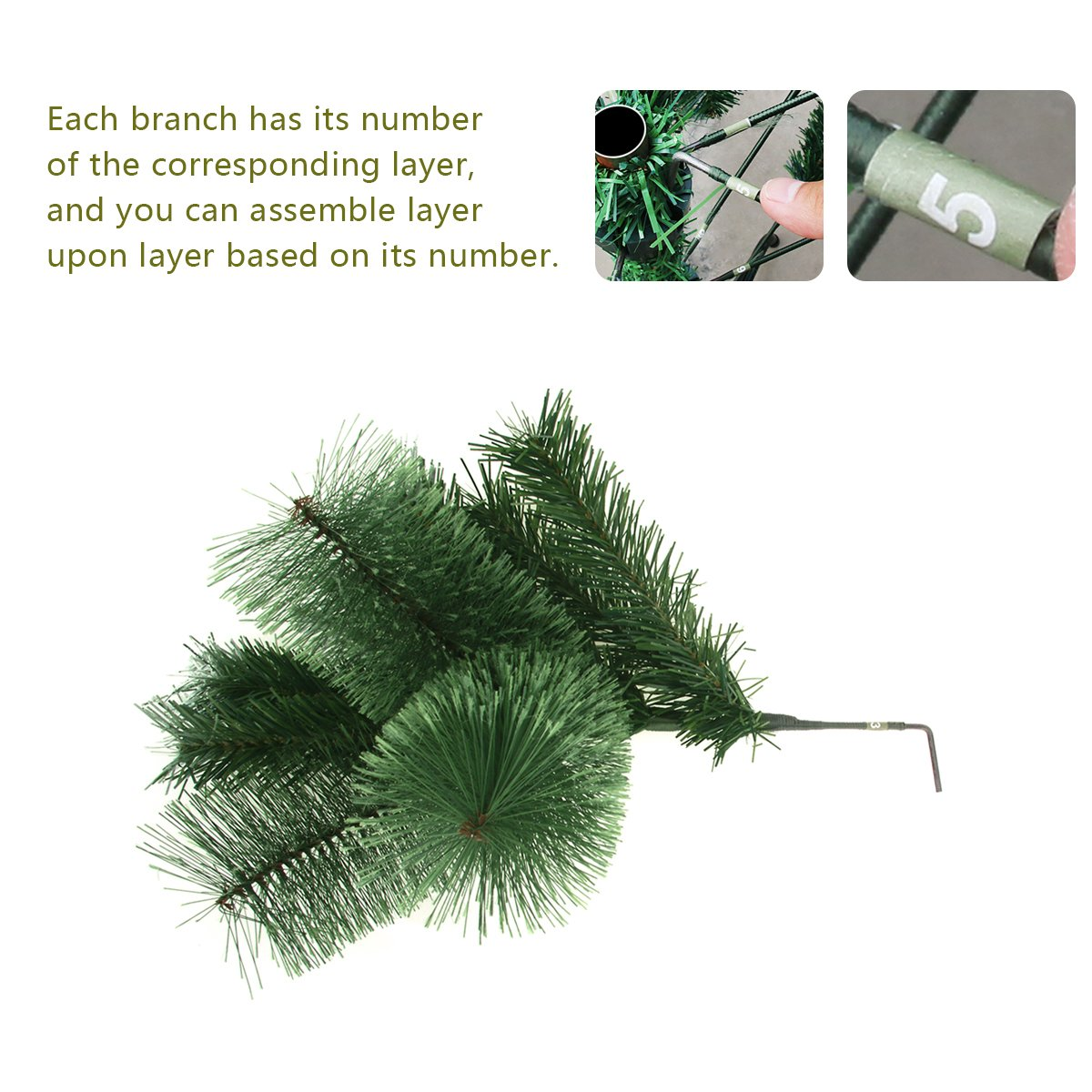 Amazon.com: Codream 7ft Artificial Christmas Trees with Stand for ...