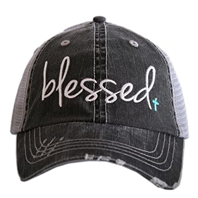 Amazon.com  Blessed Women s Trucker Hats Caps by Katydid Mint  Clothing d111008dc46