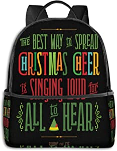 Buddy The Elf - Christmas Cheer Pullover Hoodie Student School Bag School Cycling Leisure Travel Camping Outdoor Backpack