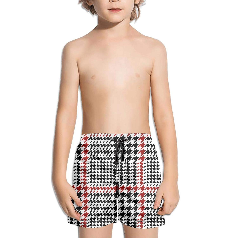 uejnnbc Hounds Tooth Check Checkerboard Drawstring Adjustable Stretch Board Swim Shorts