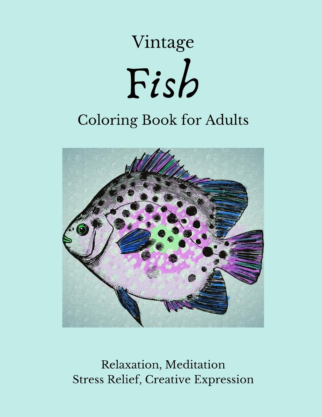 - Amazon.com: Vintage Fish Coloring Book For Adults: Color And Shade