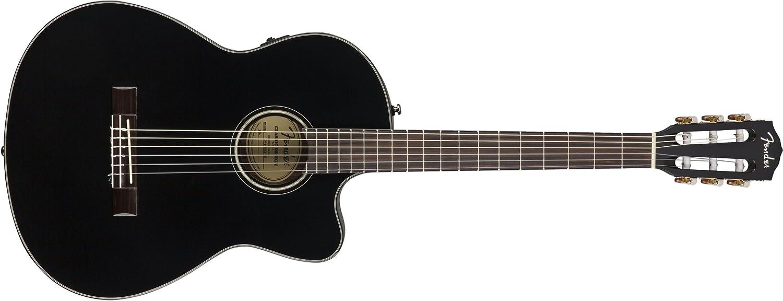 Fender CN-140SCE Black con Estuche: Amazon.es: Instrumentos musicales