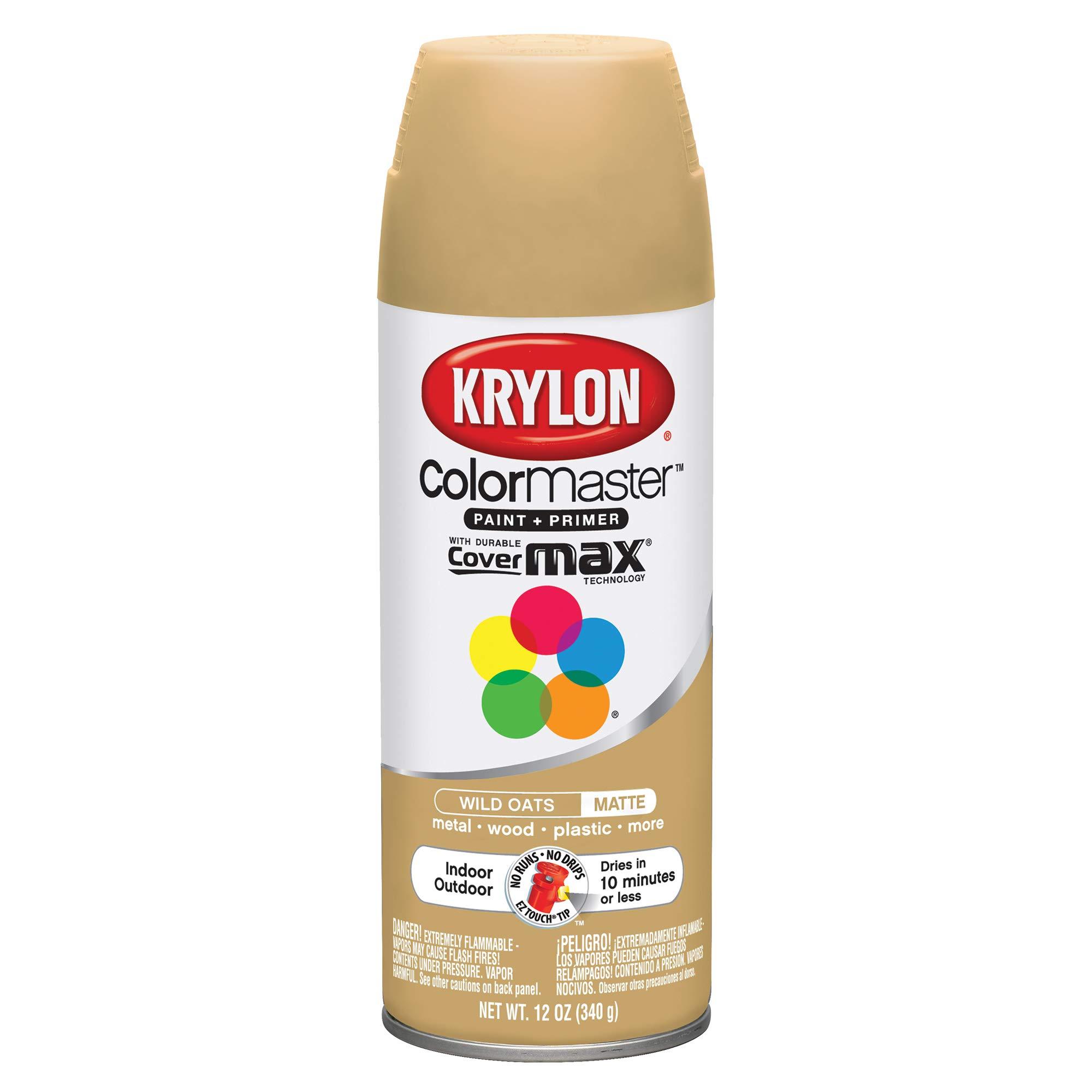 Krylon K05359002 ColorMaster Primer Aerosol Paints, Wild Oats