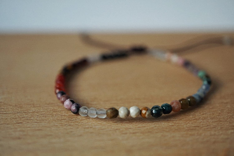 Dainty Stone Bracelet - Handmade Bracelet - Chakra Bracelet - Tiny Gemstone Bracelet - Stone Bead Bracelet - Tiny Bead Bracelet - Delicate Stone Bracelets