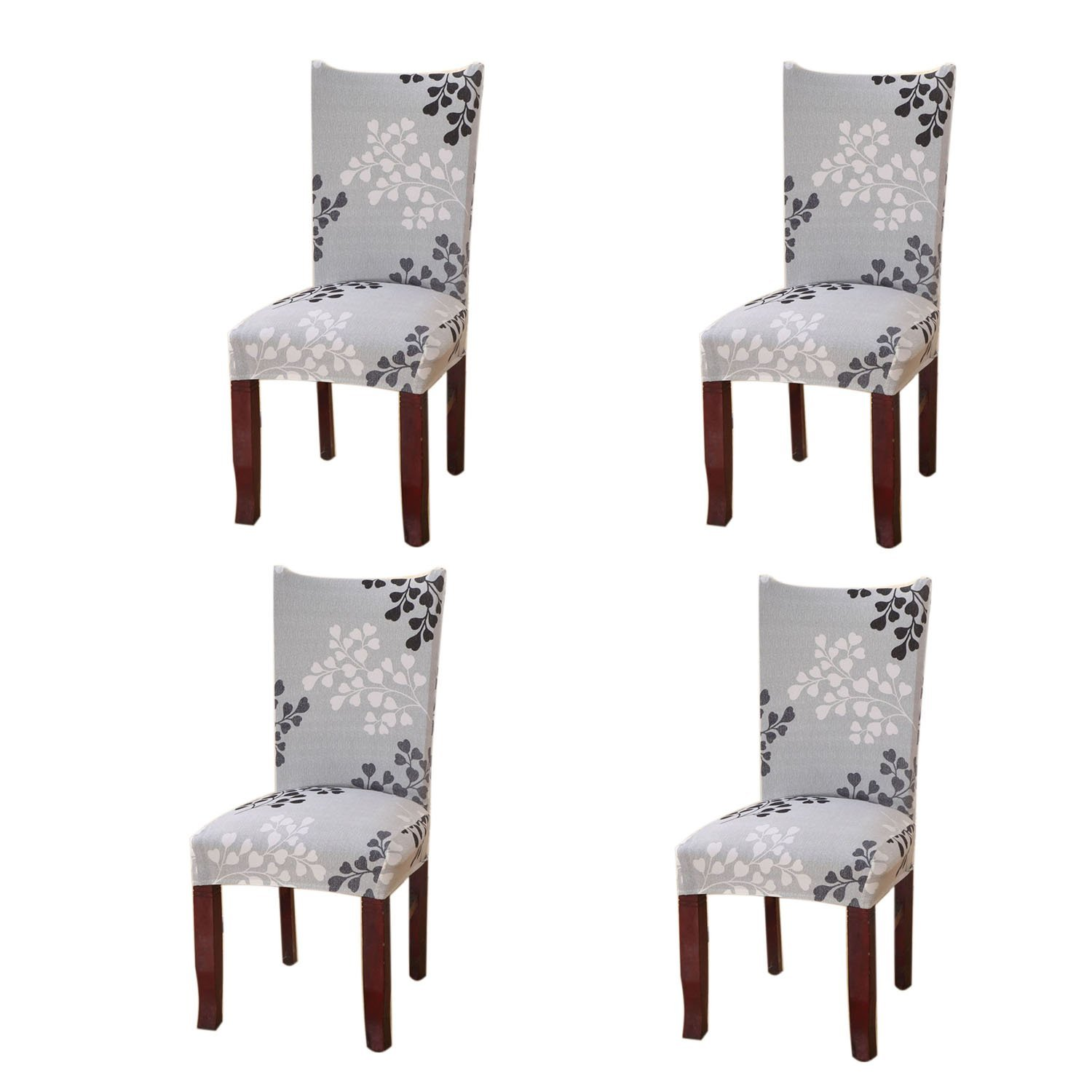 Bestjybt Stretch Removable Washable Short Dining Chair Protect Cover Slipcover (4, Style 22)