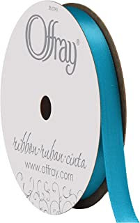 "product image for Berwick Offray 953464 3/8"" Wide Single Face Satin Ribbon, Turquoise Blue, 6 Yds"