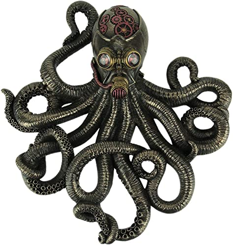 Veronese Design Bronze Finish Steampunk Style Octopus Rebreather Wall Hanging