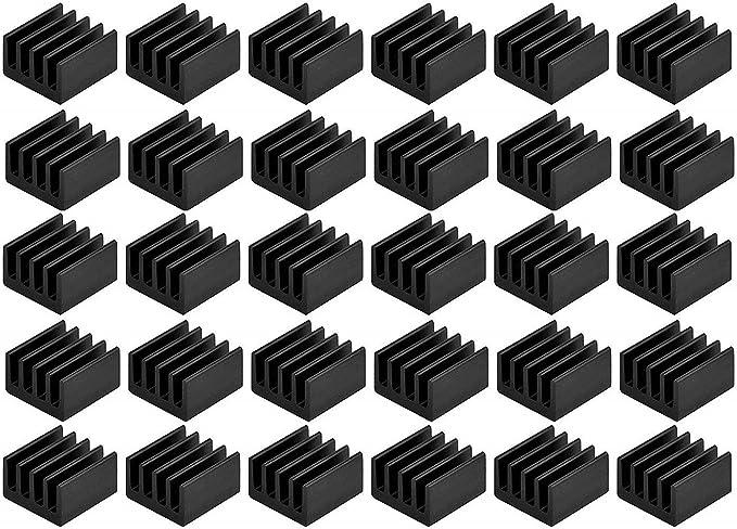 Easycargo 8,8 mm x 8,8 mm x 5 mm Mini disipador de Calor para Enfriar VRM Stepper Driver MOSFET VRam reguladores