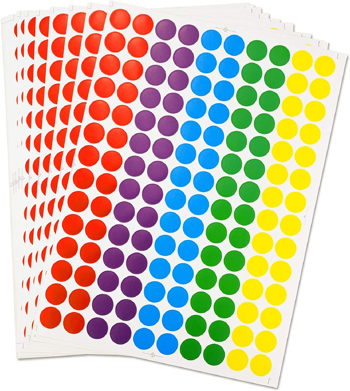 Round Stickers, EAONE Color-Code Dot Labels Removable Stickers for Write/Print, 0.75 Inch Diameter, Pack of 3500