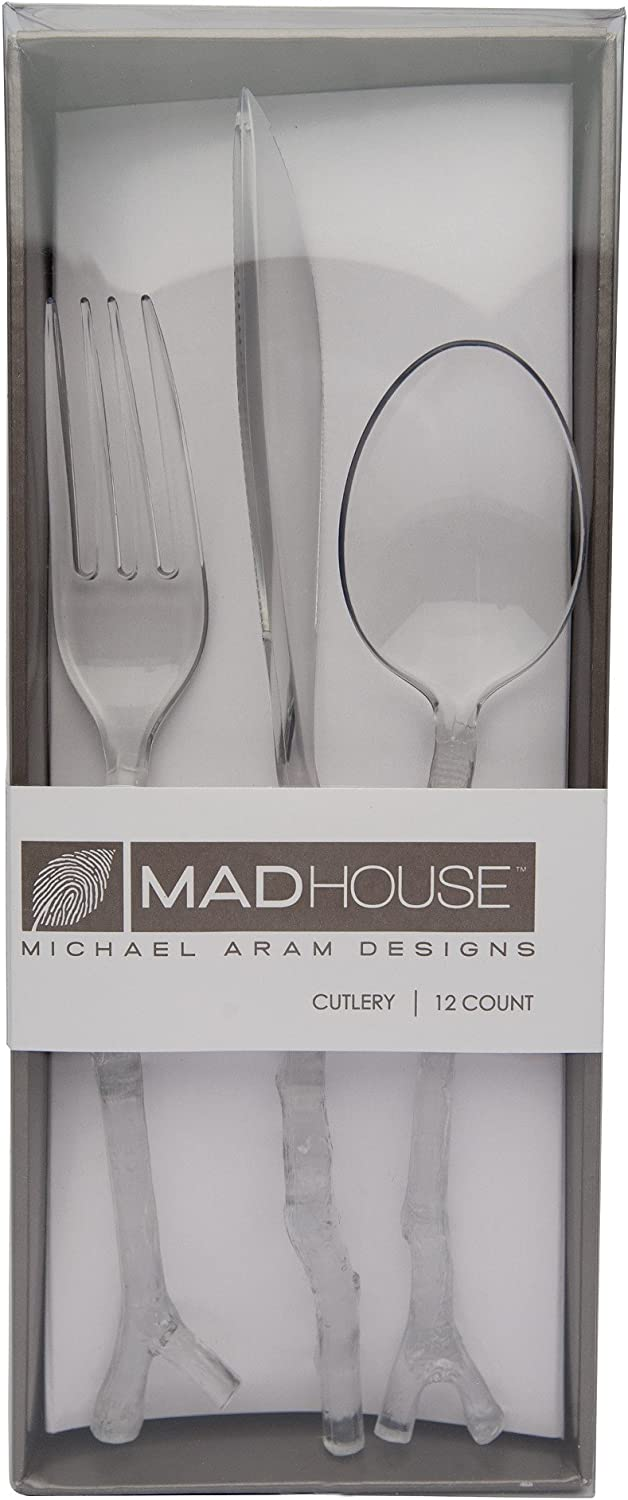 MADHOUSE by Michael Aram 12-Count Clear Dinner Plate Coral