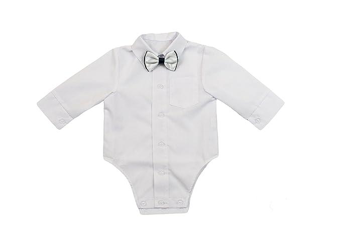 a04d942051e5 Camisa jóvenes de bebé Infantil Niño Bautizo Body camisa Traje De ...