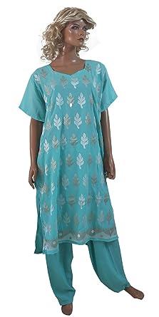 b13cb0f750 Amazon.com: Apparelsonline Indian Plus Size 56 Salwar Kameez (56): Clothing