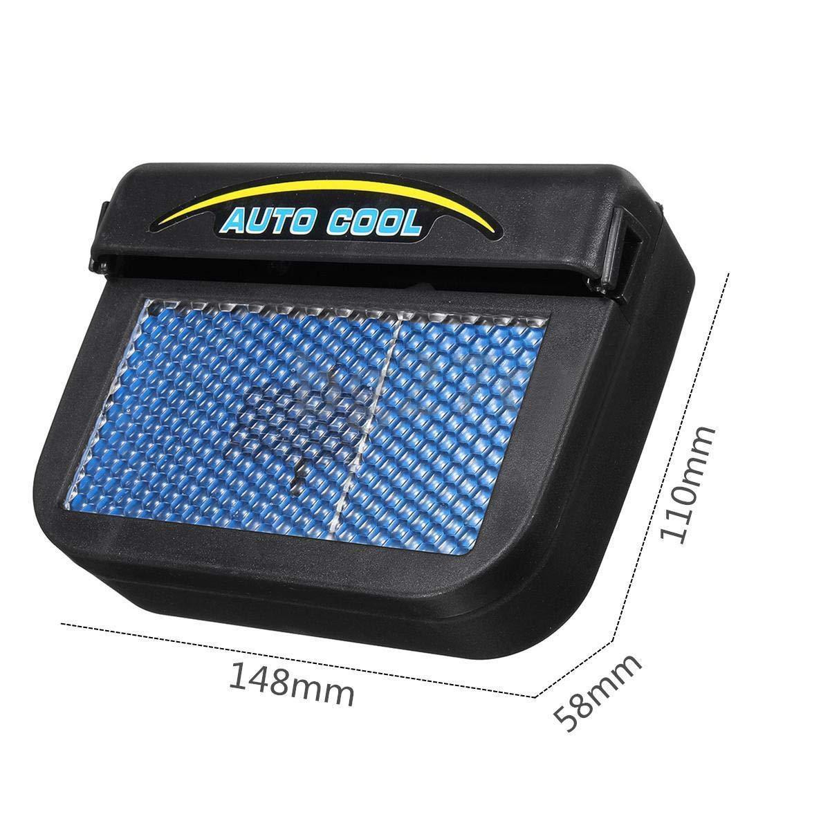 a energia Solare Jinxuny Portatile Ventola di Raffreddamento per Auto per purificare laria