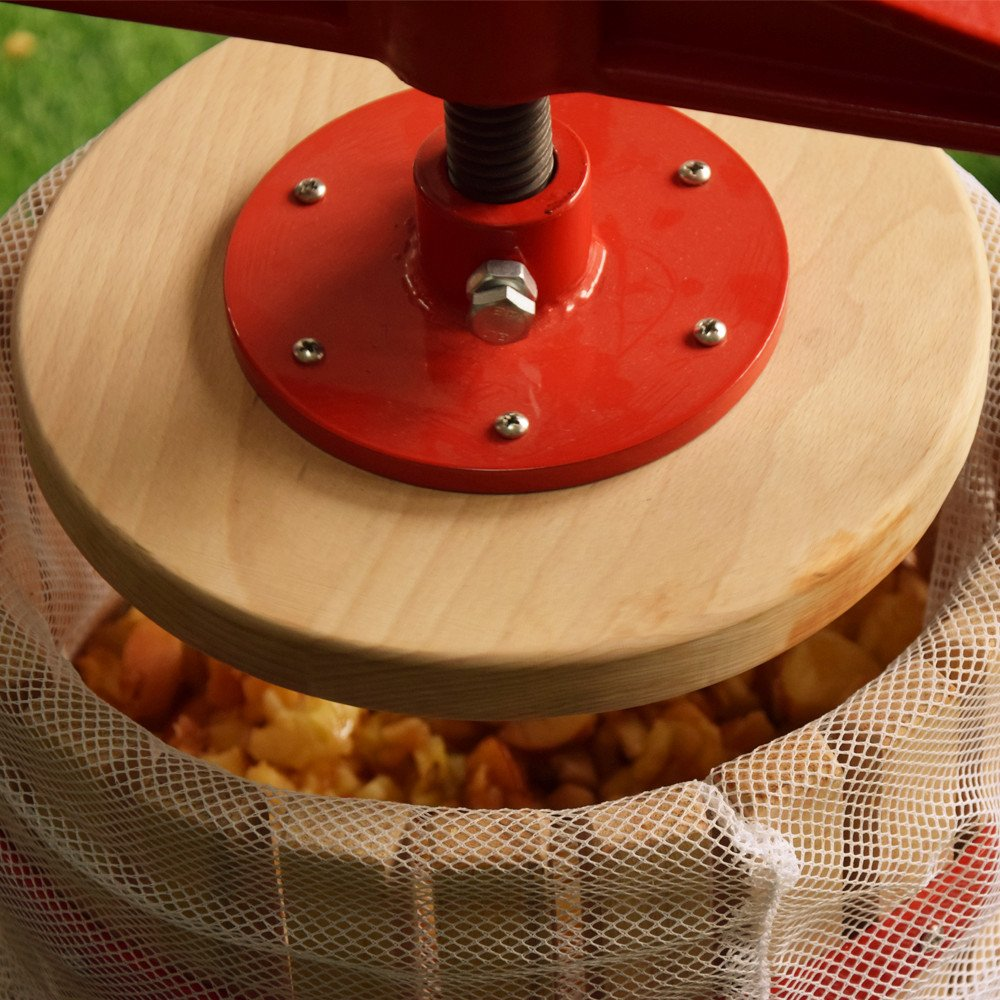 EJWOX 4.75 Gallon Fruit Wine Press, Heavy-duty Cross-beam Hardwood Cider Press by EJWOX (Image #3)