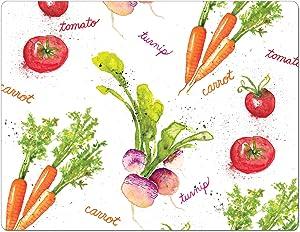 "Chop Chop Designer Printed Flexible Cutting Board Mat, Made in the USA of BPA Free Food Grade Plastic, Veggie Splash by Sara B,15"" x 11.5"""