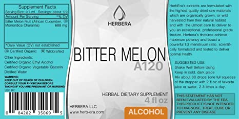 Amazon.com: Bitter Melon A120 (2pcs) Alcohol Herbal Extract Tincture, Super-Concentrated Organic (African Cucumber, Momordica Charantia) (2x4 fl oz): Health ...